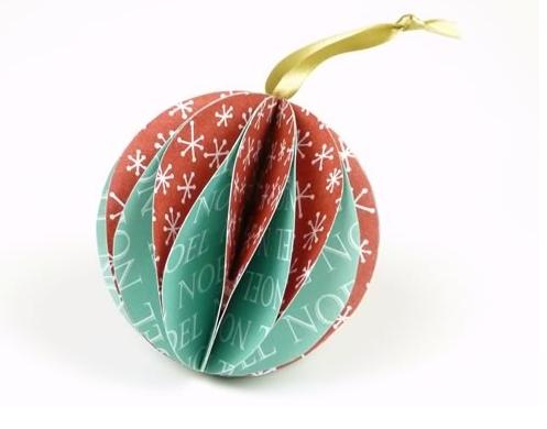 Χριστουγεννιάτικη μπάλα από χαρτί