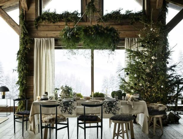 ενδεικτική χριστουγεννιάτικη διακόσμηση τραπεζαρίας