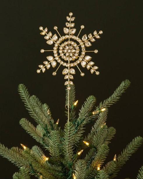κορυφή χριστουγεννιάτικου δέντρου αστέρι με κρύσταλλα