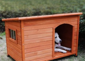 ξύλινο σπιτάκι σκύλου παλέτες