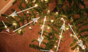 μίνι led λαμπάκια σε τεχνητό δέντρο