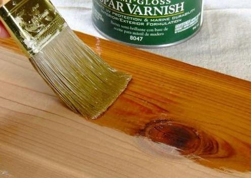 πινέλο προστατευτικό βερνίκι ξύλινο έπιπλο