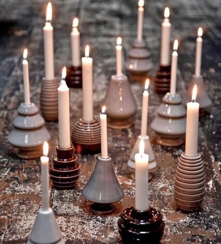 diy χριστουγεννιάτικη σύνθεση με κεριά