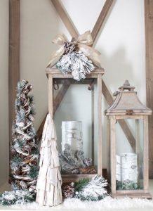 χριστουγεννιάτικα λευκά διακοσμητικά υπνοδωματίου