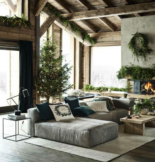 ενδεικτική χριστουγεννιάτικη διακόσμηση σαλονιού