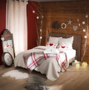 χριστουγεννιάτικη διακόσμηση υπνοδωματίου με αστέρια