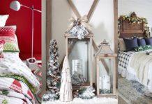 Χριστουγεννιατικη διακόσμηση υπνοδωματίου