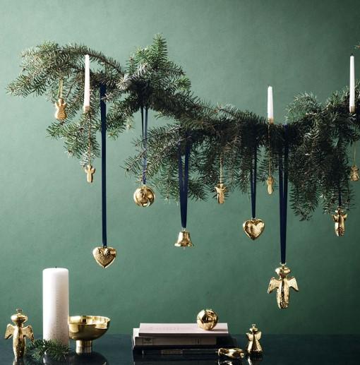 ενδεικτικά χρώματα για τη χριστουγεννιάτικη διακόσμηση (χρυσό-πράσινο-λευκό) του σπιτιού σου