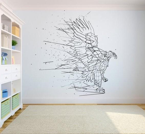 διακόσμηση τοίχου με αυτοκόλλητα τοίχου