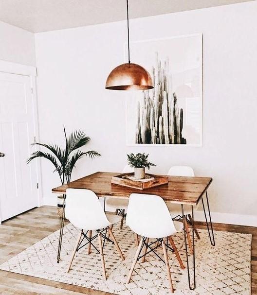 μεταλλικό φωτιστικό οροφής τραπέζι