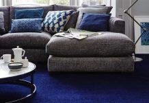 μπλε μοκέτα σαλόνι γνωρίζεις μοκέτες