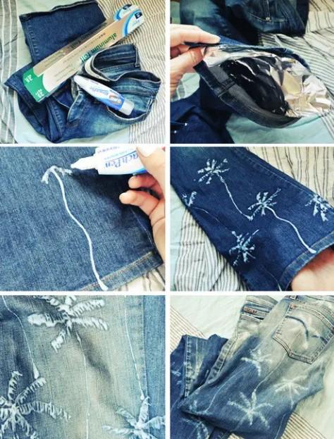 τζιν παντελόνι με σχέδιο
