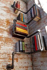 βιβλιοθήκη με σωλήνες