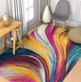 χρωματιστό χαλί γκρι καρέκλα πουφ