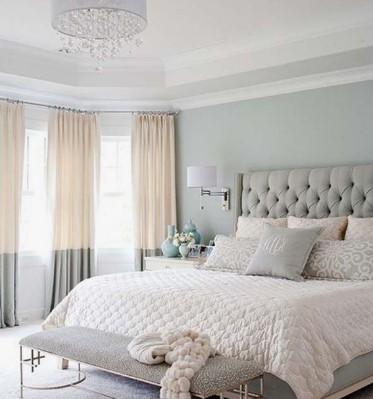 Γκρι άσπρο μπεζ υπνοδωμάτιο