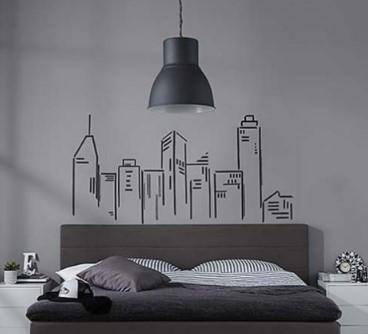 Αυτοκόλλητα τοίχου πάνω από το κρεβάτι