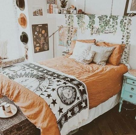 boho κρεβάτι υπνοδωμάτιο
