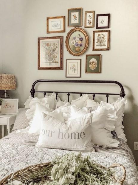 σιδερένιο κρεβάτι vintage κάδρα