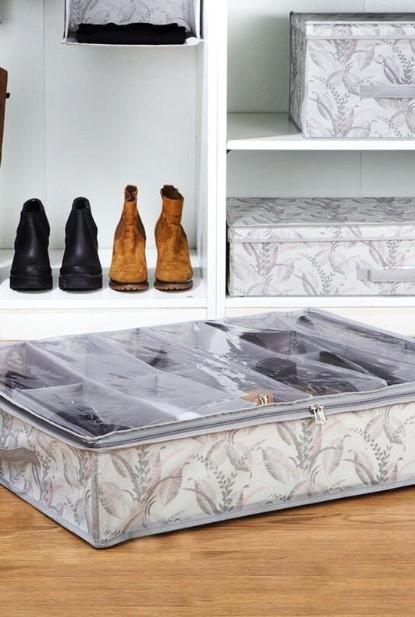θήκες αποθήκευσης παπουτσιών κάτω από το κρεβάτι