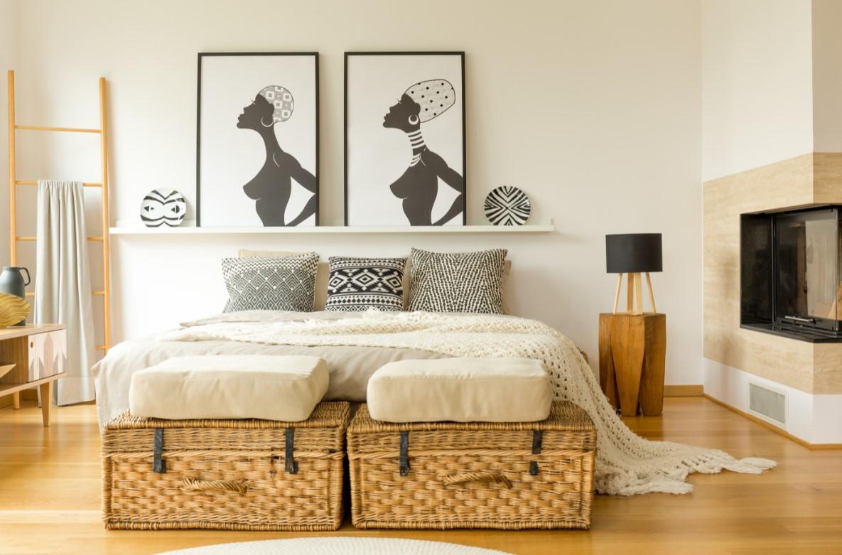 Συμβουλές για όμορφη κρεβατοκάμαρα, αποθηκευτικός χώρος