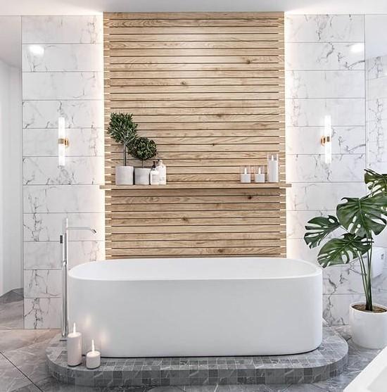 άσπρη μπανιέρα