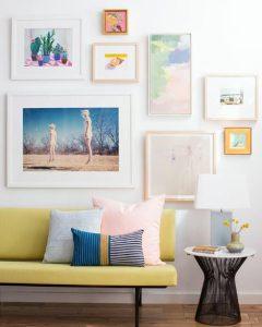 τρόπος να δημιουργήσεις ένα gallery wall