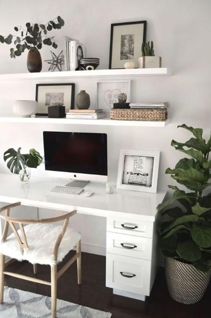 γραφείο σπίτι υπολογιστής φυτά