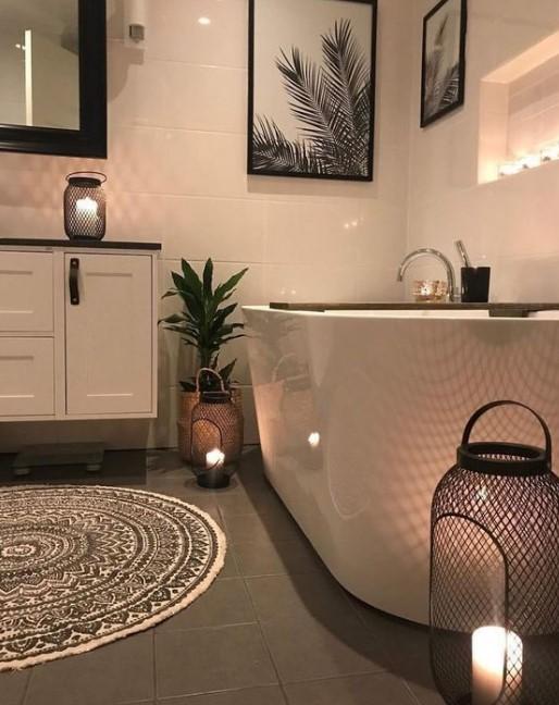 κεράκια στο μπάνιο