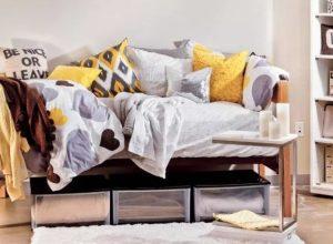 κούτες αποθήκευσης κάτω από το κρεβάτι