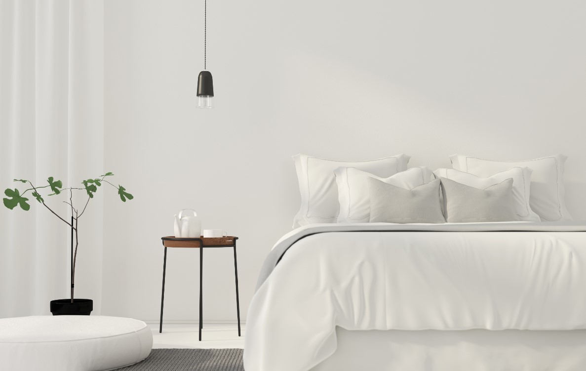 Συμβουλές για όμορφη κρεβατοκάμαρα, απλό και μινιμαλ υπνοδωμάτιο