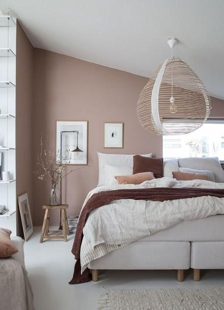 ξύλινο φωτιστικό πλέγμα υπνοδωμάτιο