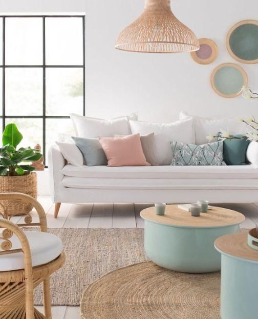 σαλόνι παστέλ χρώματα χρώματα ανοιξιάτικη διακόσμηση