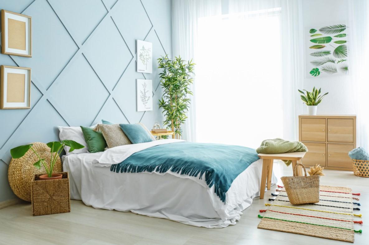 Συμβουλές για όμορφη κρεβατοκάμαρα, απάλα χρώματα στο τοίχο , αποχρώσεις διαμαντιών