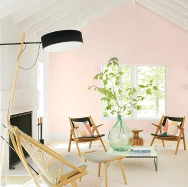 απαλο ροζ χρωμα για τοιχο