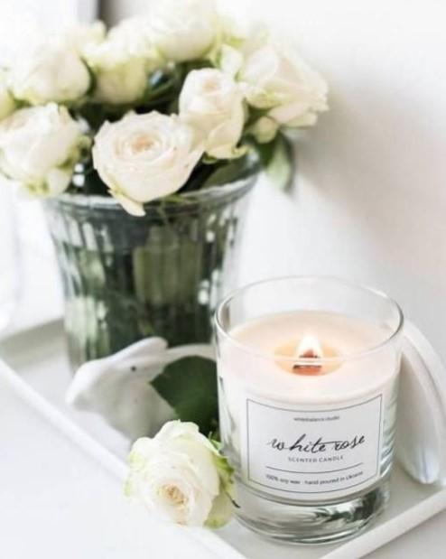 αρωματικό κερί τριαντάφυλλα