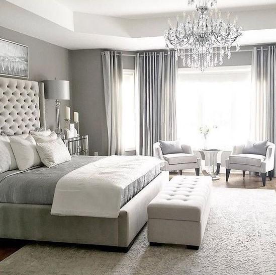 άσπρο γκρι δωμάτιο