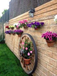 διακόσμηση εξωτερικού χώρου λουλούδια