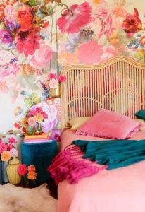 floral υπνοδωμάτιο