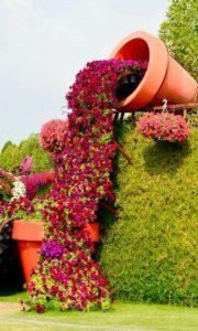 γλάστρα λουλούδια αυλή