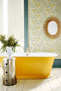 κίτρινη μπανιέρα
