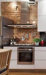 κουζίνα πέτρινος τοίχος
