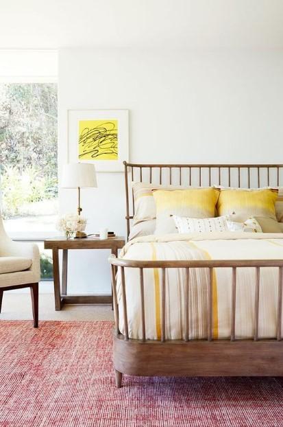 κρεβάτι ξύλινο άσπρα κίτρινα σεντόνια λάθη Feng Shui διορθώσεις