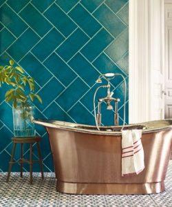 μπλε μπάνιο
