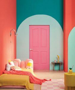 πολύχρωμο δωμάτιο