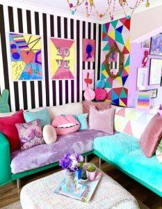 πολύχρωμο χαρούμενο σαλόνι
