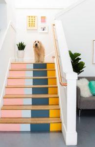 πολύχρωμα σκαλιά