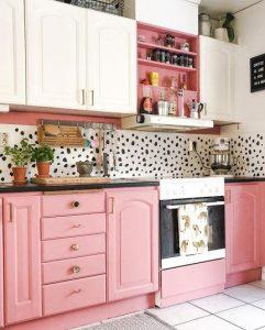 ροζ κουζίνα