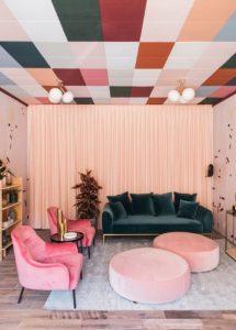 σαλόνι σε έντονα χρώματα
