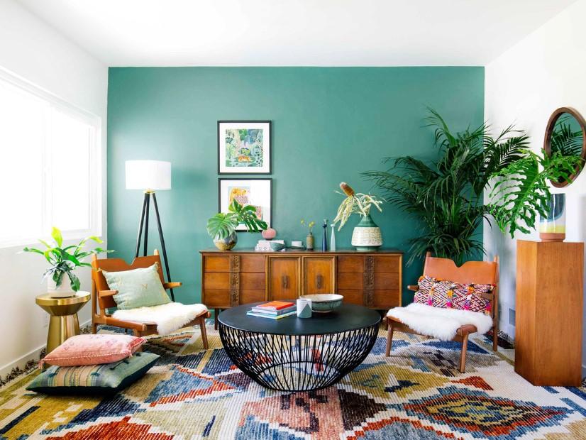 διακόσμησης καλύτερη διάθεση σαλόνι μπλε τοίχος