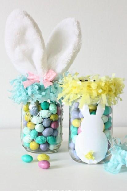βάζο πασχαλινά αυγά αυτιά κουνελιού διακοσμήσεις σπίτι Πάσχα